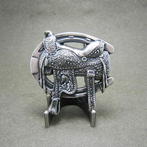 Cowboy Rodeo Seattle Mall Horse Saddle Silver-Plated Belt Free shipping anywhere in the nation Western Metal Buckl