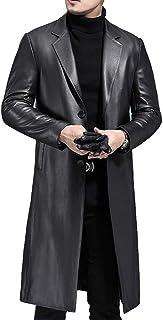 CAKGER Abbigliamento in Pelle Superior - Cappotto di Pelle degli Uomini, Pecore Slim Pitsea Giacca Attillata Maschile, Leg...