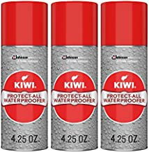 KIWI Shoe Waterproofer   Water Repellant for Shoes, Boots, Coats, Accessories and More   Spray Bottle   4.25 Oz   Pack of 3