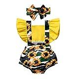 Pistazie - Conjunto de ropa para bebé y niña, algodón con volantes, de manga...
