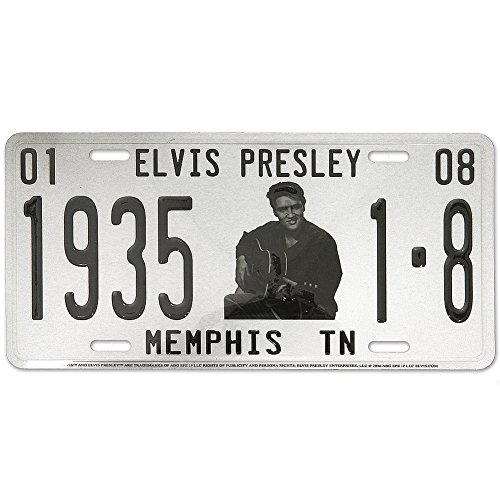 Midsouth Products White Elvis Presley 1935 Memphis TN Vehicle License Plate