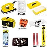 TOKO/SKS/DONI DONI Skiwachsset/Skipflegeset 11-teilig mit praktischer Aufbewahrungsbox
