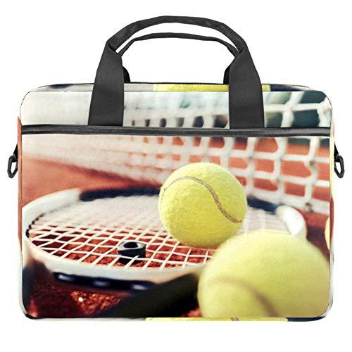 Bolsa de hombro para ordenador portátil de 15 pulgadas con asa y correa de hombro de red de raqueta de tenis