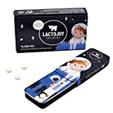 LactoJoy Pastillas de Lactasa I Kids Edition para Niños I Tratamiento de Comprimidos para Intolerancia a la Lactosa I Digestión de la Leche, Queso I Capsulas de Enzimas Digestivas I Vegano I 80 Caps