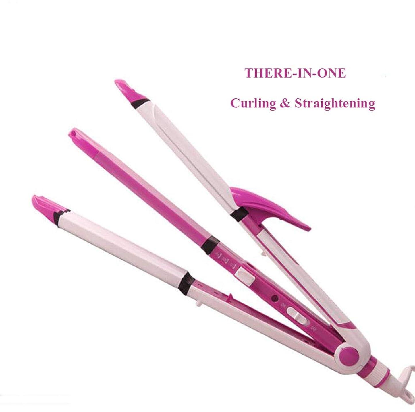 証明期限リー1つのヘアストレイテナーカーラーセラミックヘアストレートカールアイアンヘアスタイリングウェービングツール