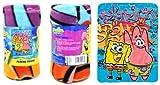 SpongeBob SquarePants Nickelodeon Cool Fleece Throw Blanket - Spongebob and Patrick Star Kids Throw Blanket for Boys & Girls, Soft & Cozy Lightweight Plush Fabric Bed Cover & Decor - Size 45' x 60'