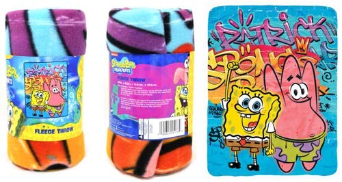 SpongeBob SquarePants Nickelodeon Cool Fleece Throw Blanket -...