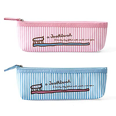 2 Pcs Toothbrush Holder Bag Travel Containers with Ventilation Holes - Portable Toothpaste Bag Storage Pouch for Women Men with Mesh Bottom