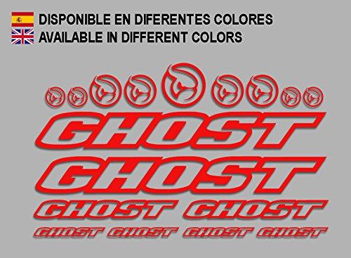 Ecoshirt R6-VLUA-ULYI Pegatinas Ghost F188 Vinilo Adesivi Decal Aufkleber Клей MTB Stickers Bike, Rojo