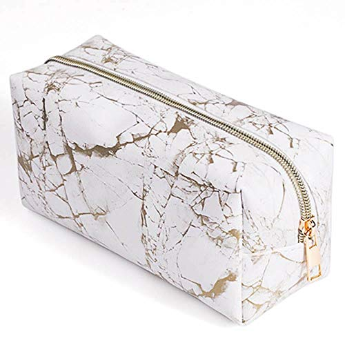 Bolsa de aseo cosmetica,para llevar maquillaje fundamental de bolsa de aseo portátil impermeable de bolsa de organizador viaje diaria organizador de artículos de aseo al aire libre,Oro blanco
