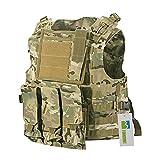 TOMOUNT Tattico Softair Vest Gilet Giacca Multi Removable Tasche in Omaggio Marrone 600D Nylon...