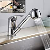 <span class='highlight'>Kitchen</span> Sink <span class='highlight'>Pull</span> <span class='highlight'>Out</span> Mixer <span class='highlight'>Taps</span> Brass <span class='highlight'>Spray</span> Single Lever Swivel Sp<span class='highlight'>out</span> Bathroom Basin Faucet