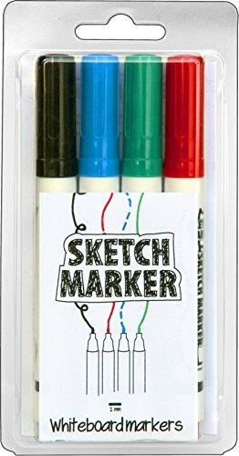 MagPaint–Rotulador para dibujo, color negro/rojo/azul/(4unidades), color verde