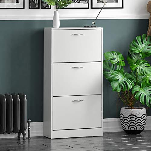 Home Discount Vida Designs 3 Drawer Shoe Cabinet Cupboard Shoe Storage...