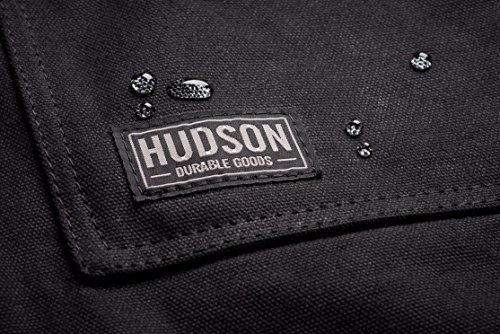 Hudson Durable Goods Tablier en toile cirée robuste Noir Permet De Régler: M À Xxl