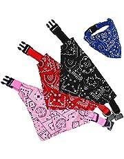 Ajustable Bufanda Mascotas, Speyang Gatos Perro de Moda Bandana Collar, Triangulares para Mascotas Bandana Collar, Baberos Lavable para Mascotas, Linda Decoración, Random 3pcs Color (M)