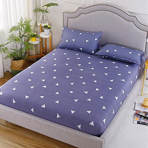 XLMHZP Funda de colchón transpirable y agradable al tacto con estampado protector de cama transpirable suave para colchón individual cama doble, niños 1_180 x 200 cm+25 cm (1 unidad)