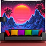 Amtoodopin Sun Tapestry Psychedelic Mountain Tapestry Abstract Wave Tapestry Stars Tapestry Boho Coconut Tree Wall Tapestry Nature Tapestry Wall Hanging for Bedroom