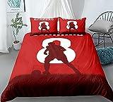 Juego de funda de edredón para cama doble, diseño de patrón artístico, ultra suave, antialérgico, no necesita planchado, ropa de cama de microfibra de lujo, No.8Gerrard, doble 200 x 200 cm