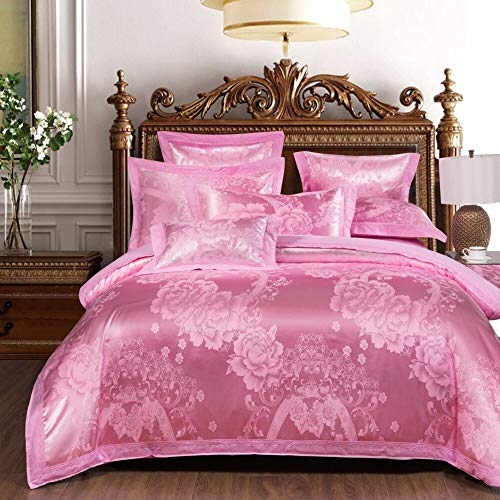 Stephen Bedding Sets - chinese wedding style jacquard bedding 100% cotton embroidered pillowcase duvet cover bed sheets 1 PCs