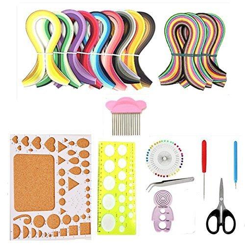 ZNME66 Papierquilling-Set mit 36 Farben, 900 Streifen, 3 mm Breite, Quilling-Papier und 10 Quilling-Werkzeuge für Quilling-Kunst