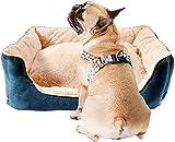 BIGLUFU Casa Cómoda para Mascotas, Cama para Perros, Sofá para Perros (L, Azul)