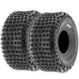 Pair of 2 SunF A011 XC Sport 16x8-7 ATV Go-Kart Knobby Tires, 6 PR, Tubeless