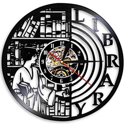 Reading Books Wall Clock