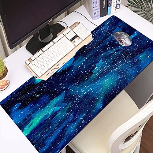 FAQIMEI Alfombrilla Gaming para PC Acuarela Pintada Galaxia del Universo Espacial con Estrellas Splash Night Artwork Backgrou Máxima Precisión con Base de Caucho Natural, Máxima Comodidad