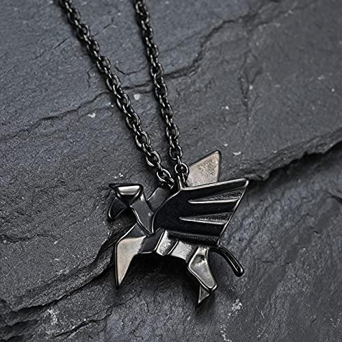 WDBUN Collar Colgante Joyas Estilo Origami Serie Pegasus Pegasus Tide Marca Collar Personalidad Arte Joven Estudiante con Colgante Regalo de Fiesta de cumpleaños de Navidad de acción de Gracias