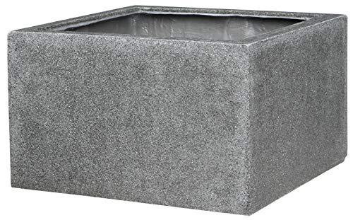Dehner Gartenbrunnen-Umrandung, ca. 60 x 35 x 60 cm, Polyresin, grau