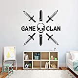 Tianpengyuanshuai Los Jugadores comen y Duermen Juegos calcomanías de Pared Dormitorio Infantil Personalizado Vinilo Arte de la Pared -63x58cm