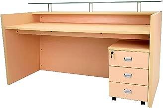 Mahmayi Harrera Modern Reception Desk, Oak, 103 x 180 x 80 cm, MER06-18Oak