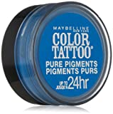 Maybelline New York Eye Studio Color Tattoo Pure Pigments, Brash Blue, 0.05 Ounce