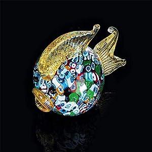 Arte de Murano pescado bola de cristal de Murano, glass, Multicolor, pequeña