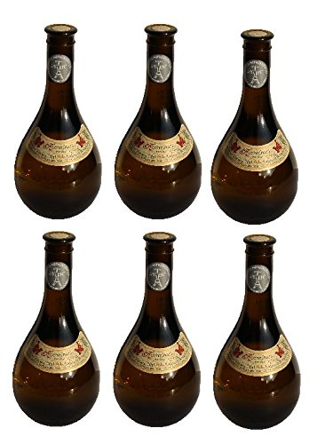 6x Retsina Kechribari geharzter Weißwein 11,5% 500 ml Flaschen - + 2 Probier Sachets Olivenöl aus Kreta a 10 ml - aus Griechenland griechischer Weiß Wein
