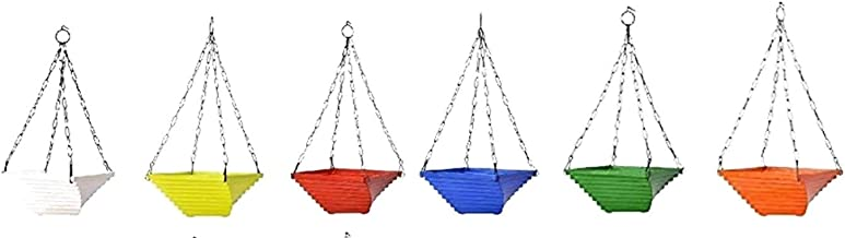 Khoji Twister Hanging Pots - A Set of 6 Multicolored