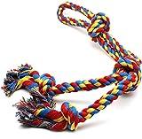 GOODGDN Cuerda de Juguete para Perro, Pelotas de Caucho para Perros Cuerda interactiva para Perros de Razas Grandes, Cuerdas para Perros Grandes y Fuertes