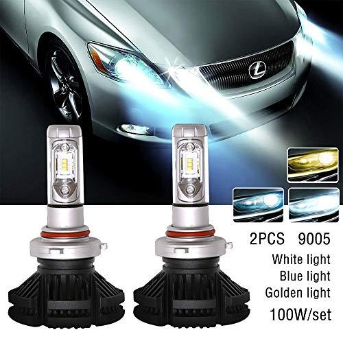 2PC Super Bright 9005 X3 100 W 6000lm LED de voiture DRL Feu de brouillard Phare ampoule lampe