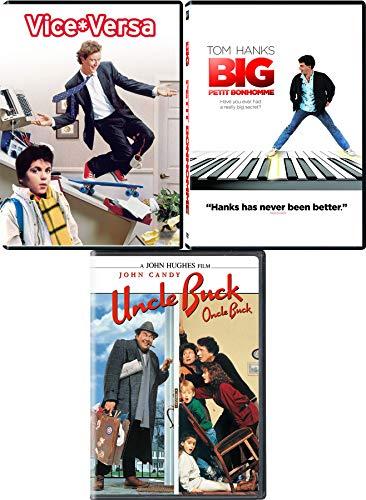 Act Your Age Triple Feature 80's Pack Uncle Buck John Hughs Comedy + Vice Versa & Big Tom HanksBlast 3 DVD