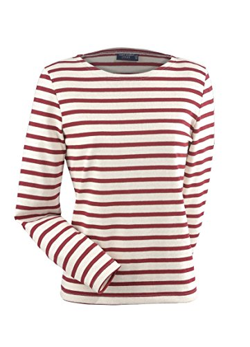 Saint James Meridame - Streifenshirt - Bretagne-Shirts Ecru/PERSAN (46)