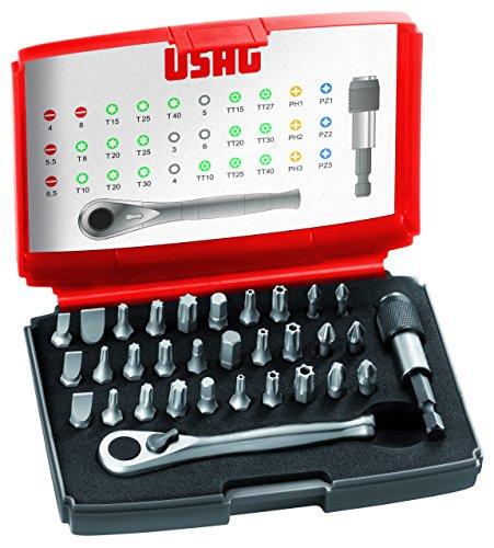 USAG U06920042 - Pack de 32 piezas surtido de puntas y carraca reversible