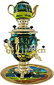 "Samovar electric 3 liters""Tula"" in the set""Yasnaya Polyana"" hand-painting"