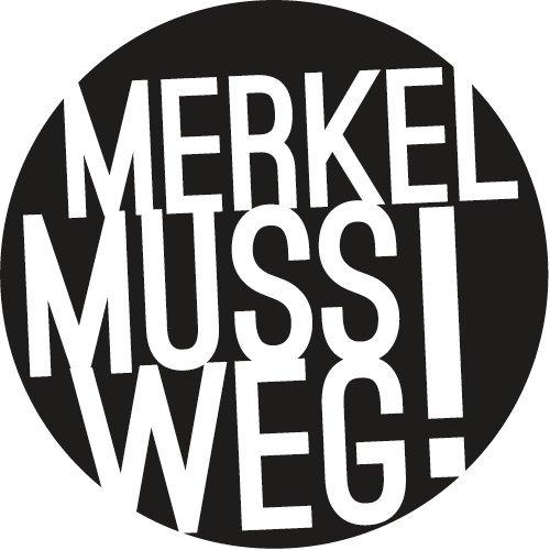 Merkel muss weg! Autoaufkleber