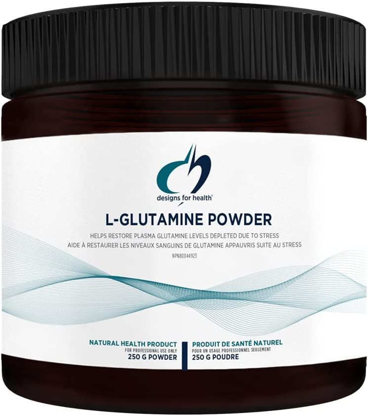 Designs for Health Vegetarian L Glutamine Powder - Pure 3000mg Amino Acid Supplement - Promotes Muscle Recovery, Gut + Immune Support - Non-GMO Gluten Free Drink Add-in (83 Servings / 250g)