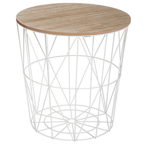 Atmosphera Table à café Kumi en métal - Blanc