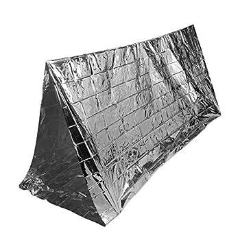 Tente D'urgence, Tente Survie Couverture De Survie D'Urgence MAGT Extérieur Couverture D'abri D'urgence Couverture Poids Léger Réfléchissant Camping Randonnée Tente De Survie Portable