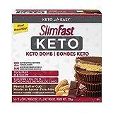 SlimFast Keto Bomb Snacks, 14x17g Chocolate Peanut Butter Cups Per Box, 238 Grams