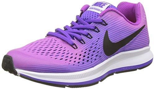 Nike Zoom Pegasus 34 Gs, Scarpe da Corsa Bambina, Viola (Hyper Violet/Black/Purple Agate/Hyper Grape), 36.5 EU
