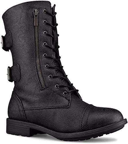 TOP Moda Women Pack-72 Boots,Black,8.5